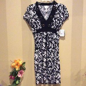 🌹NWT Kohl's  black & white dress